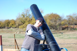 Loving the Pumpkin Cannon at Applejack Pumpkin Patch - Augusta, Kansas